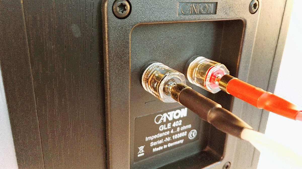 Dynavox Perfect Sound Lautsprecherkabel Anschluss am Terminal