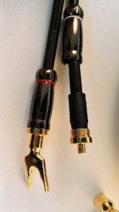demontierte Stecker Dynavox Highend Lautsprecherkabel